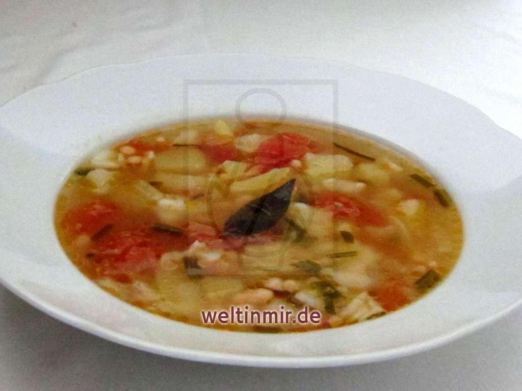 Bohnensuppe mit Tomaten • Rezept | weltinmir.de