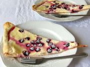 Quarkkuchen mit Weintrauben