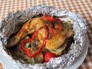 Gefüllte Hühnerkeulen in Alufolie