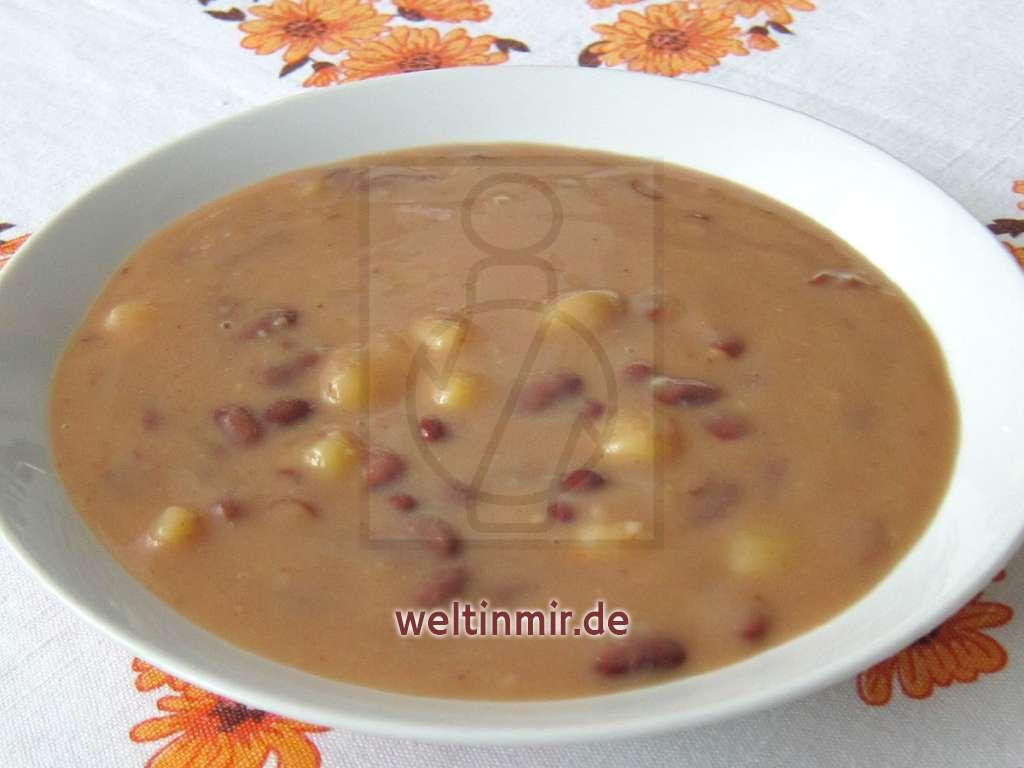Süß-saure Bohnensuppe • Rezept | weltinmir.de