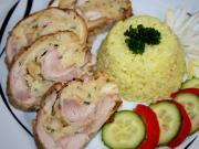Hühnerroulade mit Gebäck-Fülle