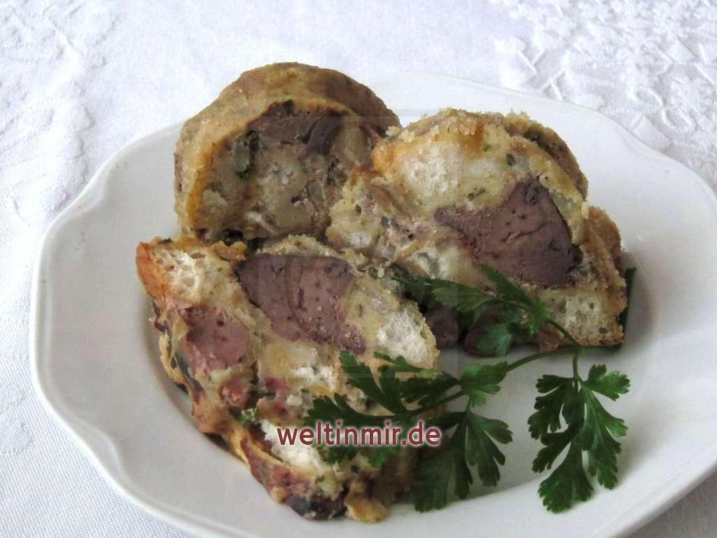 Gugelhupf aus Semmel und Leber • Rezept | weltinmir.de
