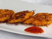 Würzige Kürbis-Karotten-Pfannkuchen