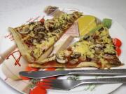 Schnell gemachte Pizza