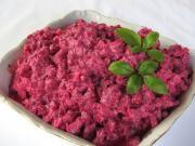 Rote Beete Salat mit Sellerie und Joghurt