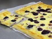 Kuchen mit Blaubeeren und Mascarpone