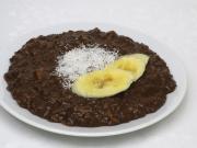 Schoko- Gerstenbrei mit Bananen
