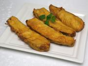 Gebratene Zucchini im Joghurt paniert