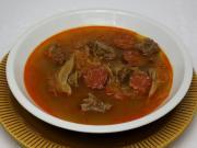 Kohlsuppe mit Rindfleisch