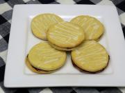 Geklebte Zitrone-Rädchen