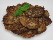 Bohnenkartoffelpfannkuchen mit Basilikum