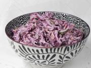 Rotkohl Salat mit Mayonnaise